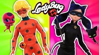 LADYBUG: Marinette se CONVIERTE en CAT NOIR y Adrien en LADYBUG 🐞💥- Juguetes Fantásticos