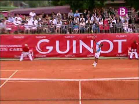 Rafa Nadal vs. Arnaud Clement, partido de exhibición en París Video
