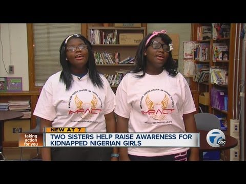 Two sisters help raise awareness for kidnapped Nigerian girls