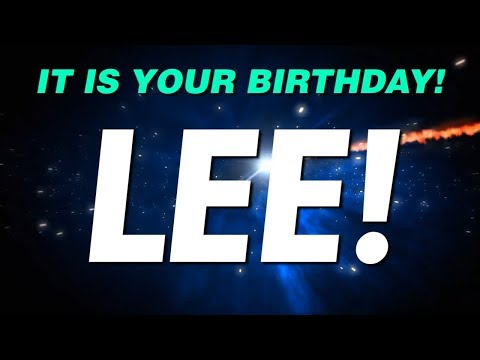 HAPPY BIRTHDAY LEE! This is your gift.
