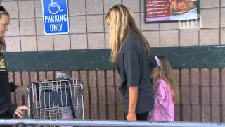 Black Cadillac Escalade: Denise Richards And Kids Out And About.