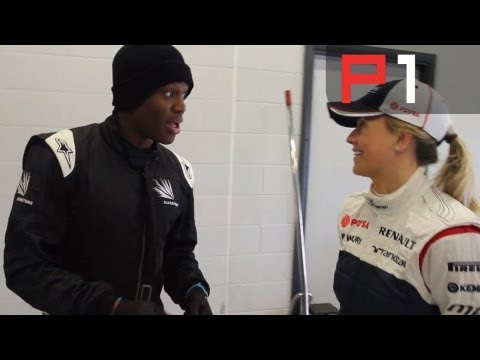 KSI chats to Suzie Wolff at Silverstone