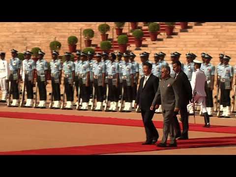 Guard of Honour at Rashtrapati Bhavan on 18-09-2014