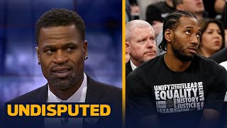 Stephen Jackson on reports Kawhi Leonard will rehab with Spurs again | UNDISPUTED