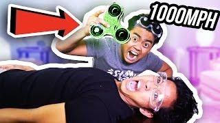 1000 MPH FIDGET SPINNER VS HUMAN!