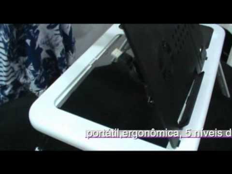 Mesa Para Notebook E-table LD09 Portátil Dobrável 2 Coolers