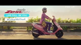 Stay Full-on Charged, Always with the TVS Scooty Zest 110