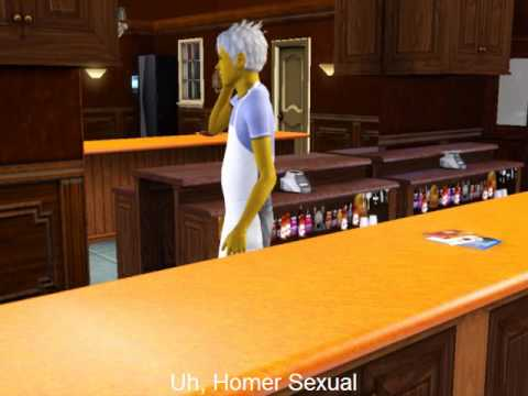 Bart's Prank Calls To Moe (Sims 3 Edition) Video