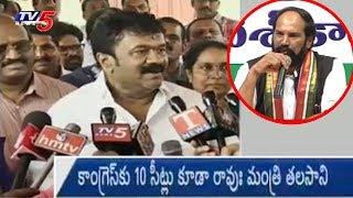 Minister Talasani Srinivas Yadav Counter to Uttam Kumar