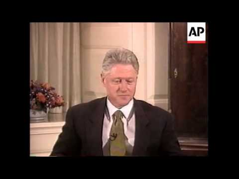 USA: PRESIDENT CLINTON LEWINSKY TESTIMONY VIDEO HIGHLIGHTS