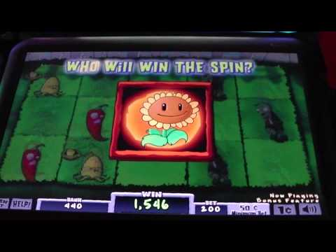 Las Vegas Plants vs. Zombies Slot Machine Bonus - Over 5.000 Credits!