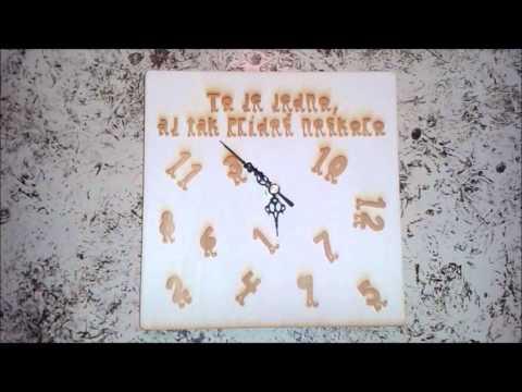 Drevené hodiny - originálny darček