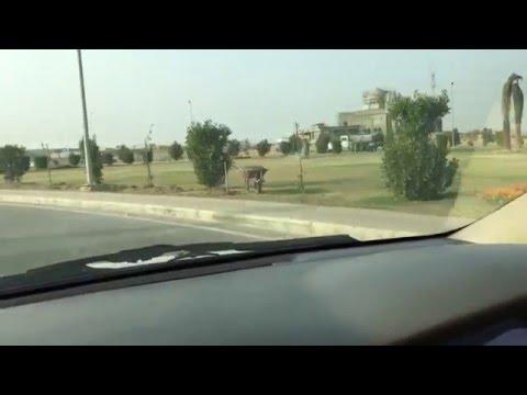 Bahria Town Karachi - 2 (8-Jan-2016) - Entering the gate house and overseas block