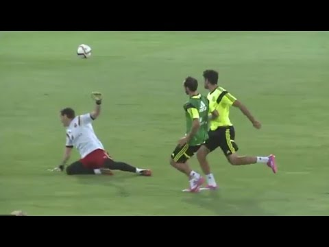 Diego Costa Great Goal | Spain Training Session