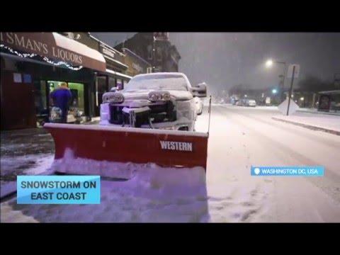 Snowstorm on EasT Coast: Historic storm blankets US East Coast in snow