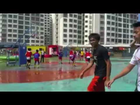 Miko & Friends Playing at Sengkang West, Singapore Basketball 2016
