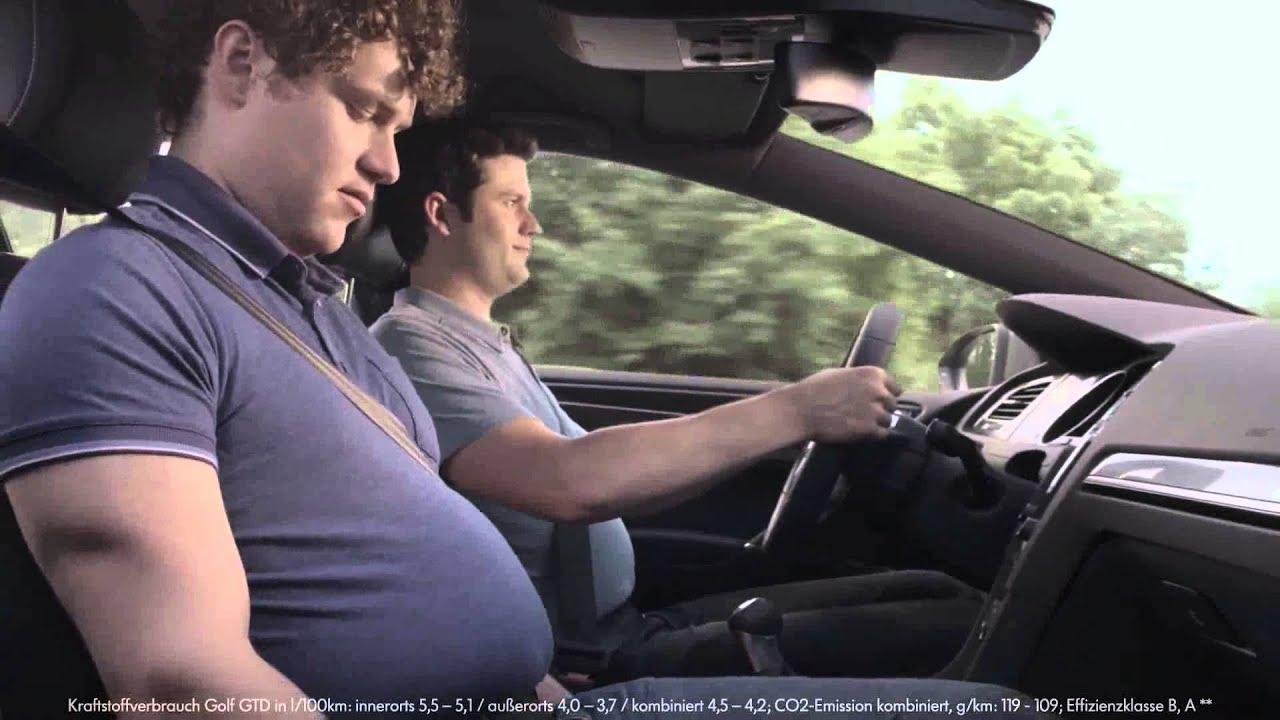 """VW Golf GTD - lustige Werbung """"Bäuche"""" / funny Volkswagen ..."""