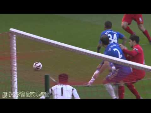Luis Suarez bites Branislav Ivanovic HD Liverpool vs Chelsea 2013 (Best Angle)