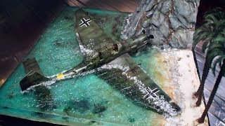 EPOXY RESIN DIORAMA CRASHED JU 87 B2 STUKA