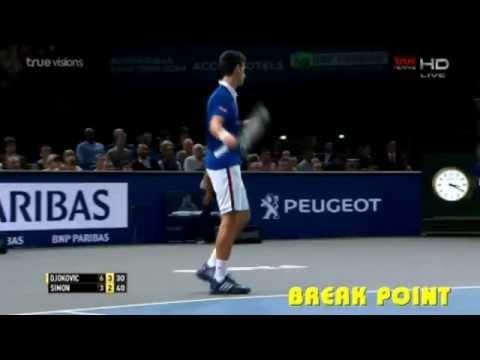 Novak Djokovic vs Simon | Paris Master 2015  - Highlights