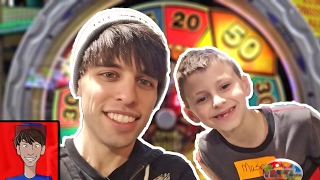 Surprising a Fan at the Arcade for His Birthday! | Winning Arcade Jackpots & Tickets