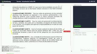 Webinar - Actualización Tarifas CFE