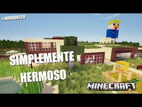 SIMPLEMENTE HERMOSO CASAS DE MINECRAFT EN #NOVHOUSER SUBS