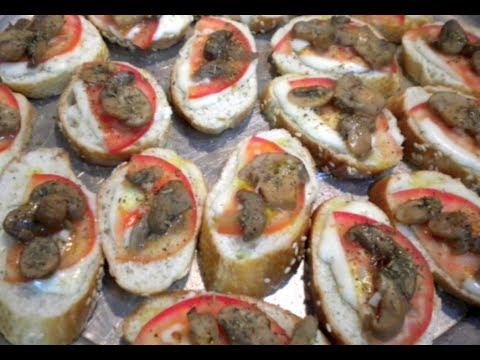 BOCADILLOS ITALIANOS (Tostas o canapés) |Receta Facil