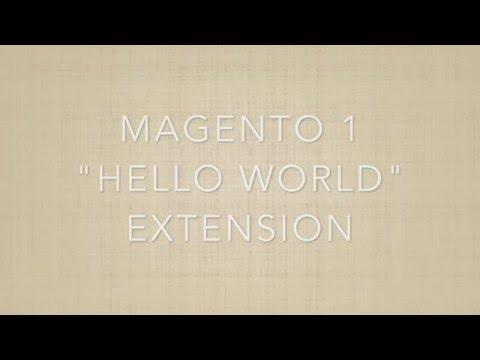 Magento 1: Hello World extension