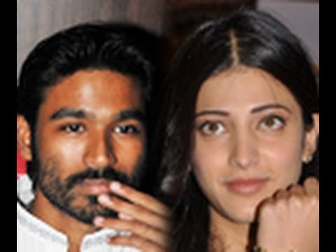 Dhanush and Shruti haasan in a Lip Lock scene