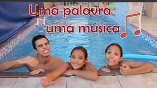 UMA PALAVRA UMA MÚSICA NA PISCINA! (ft. Kids Fun)
