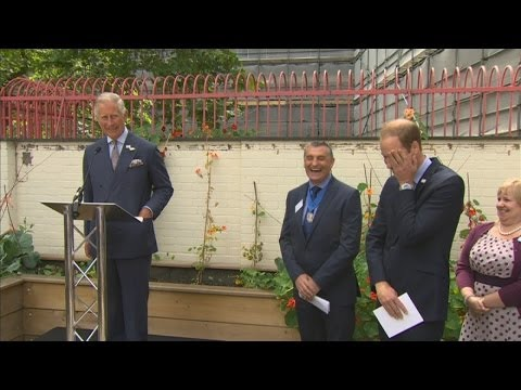 Prince Charles jokes with William after being described as 'buff'
