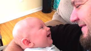 Funny baby laughing video