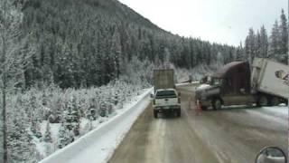 Truck crash, British Columbia hwy 1 near GOLDEN