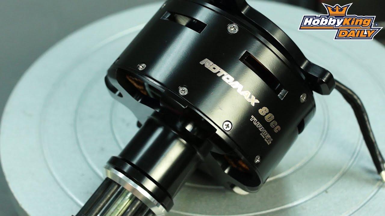 Hobbyking Daily Rotomax 80cc Motor Youtube