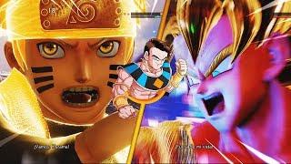 🔥GUERRA de ANIMES! Goku vs Naruto Dragon Ball vs Naruto🔥Jump Force