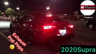 2020 Supra Straight Pipe Exhaust or Nah!? INSANE 2020 Toyota Supra Exhaust Pops