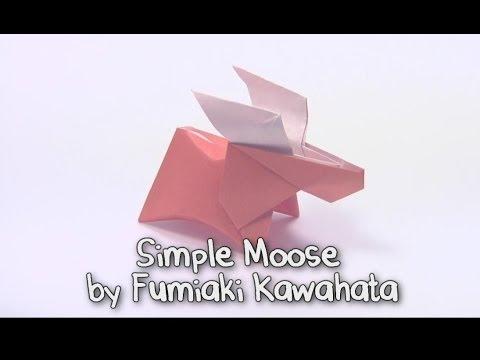 Оригами лось