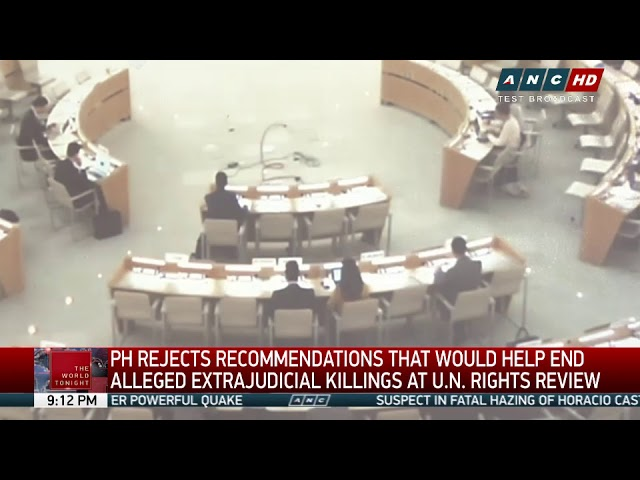 PH rejects UN member-states' proposals to help end killings