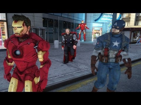 The Avengers VS Hulk, Captain America  Thor, Iron Man