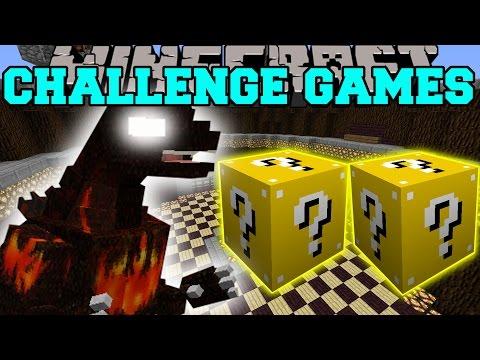 Minecraft: Burning Godzilla Challenge Games - Lucky Block Mod - Modded Mini-game video