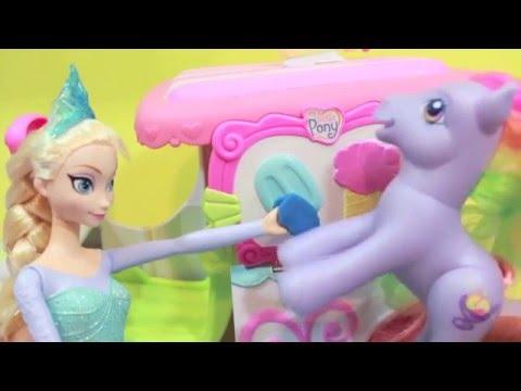 Frozen Elsa FREEZES Kristoff Dream My Little Pony Disney Princess Anna Play-Doh AllToyCollector