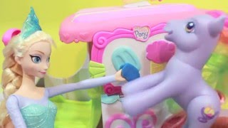 Frozen Elsa FREEZES Kristoff Dream My Lie Pony Disney Princess Anna Play-Doh AllToyCollector