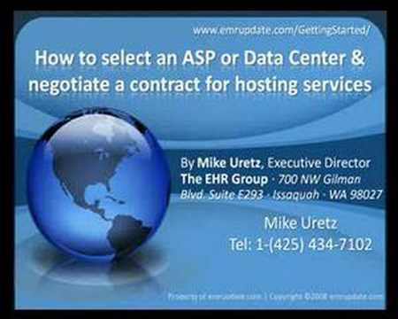 How to select ASP / Data Center & negotiate hosting contract
