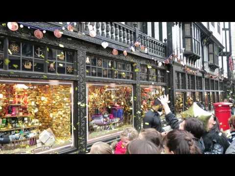 Liberty Christmas Windows Lights London YouTube