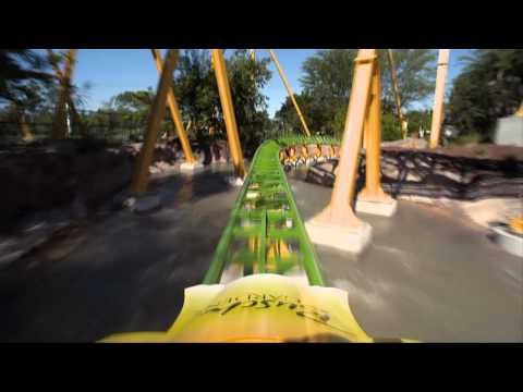 Cheetah Hunt POV Roller Coaster REAL HD with Audio Busch Gardens Tampa Front Seat Florida