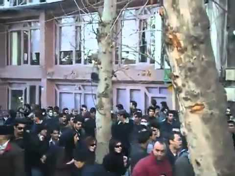 Iran green 14th Feb. Regime forces attacking people Tehran 25 bahman