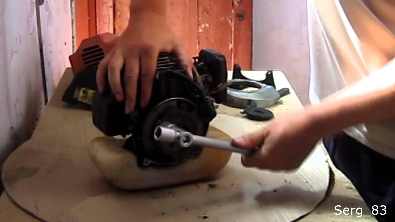 Двигатель бензокосы ремонт своими руками
