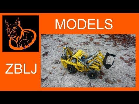 MODEL: Lego technic Backhoe loader