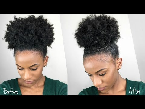The BEST Sleek High Puff on Type 4 Natural Hair using Gorilla Snot Gel   Review & Demo